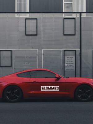 Sticker auto SLAMMED 2