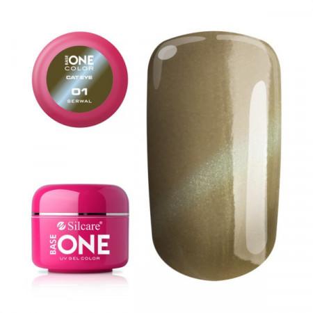 Gel UV Color Base One Silcare Cat Eye Magnetic Serwal 01