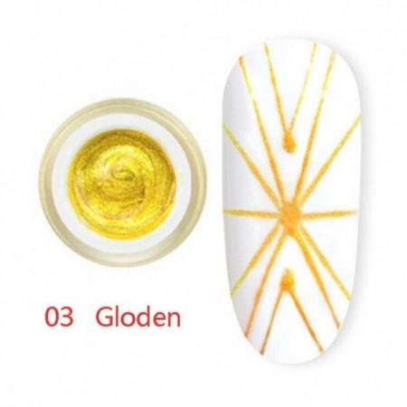 Gel UV Spider-Geometric Canni 5g Gold 03