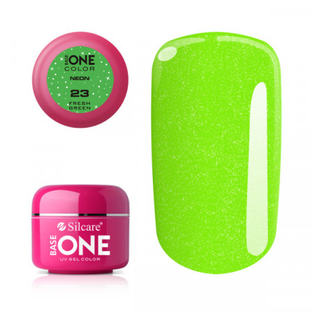 Gel UV Color Base One Silcare Neon Fresh Green 23
