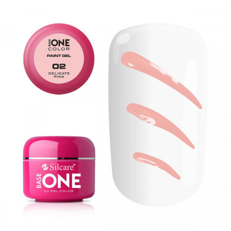 Gel UV Color Base One Silcare Paint Delicate Pink 02