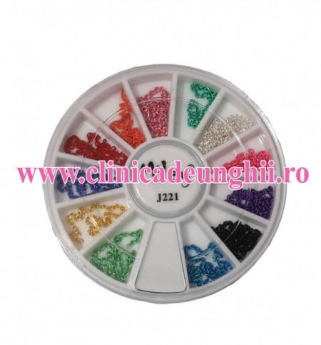 Carusel lantisoare decor multicolore
