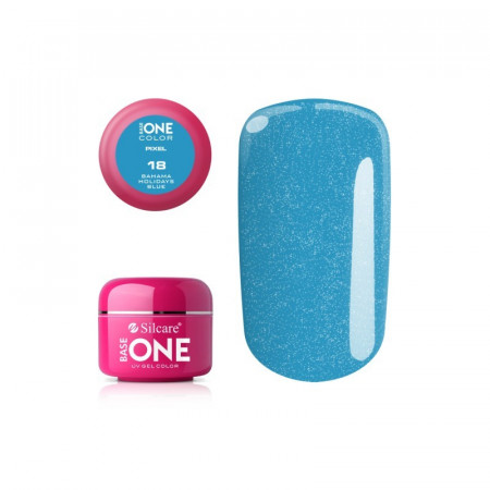 Gel uv Color Base One Silcare Pixel Bahama Holidays Blue 18