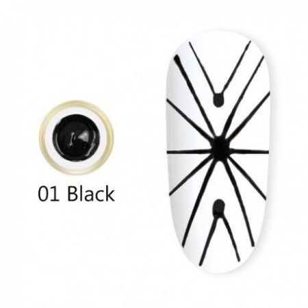 Gel UV Spider-Geometric Canni 5g Negru 01