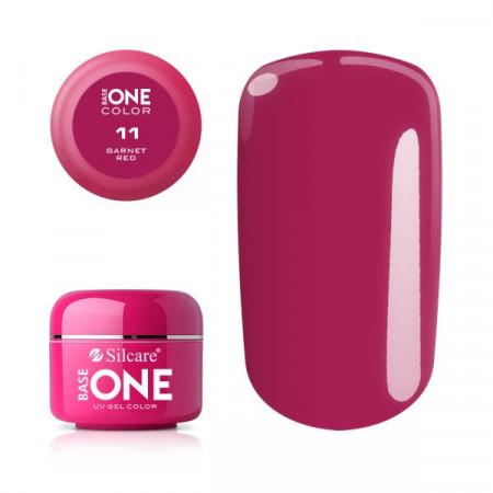 Gel uv Color Base One Silcare Clasic Garnet Red 11