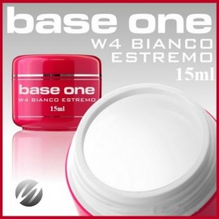 Gel UV de Constructie Base One W4 Bianco Estremo15gr