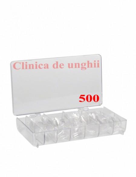 Tipsuri unghii false 500 buc Transparente