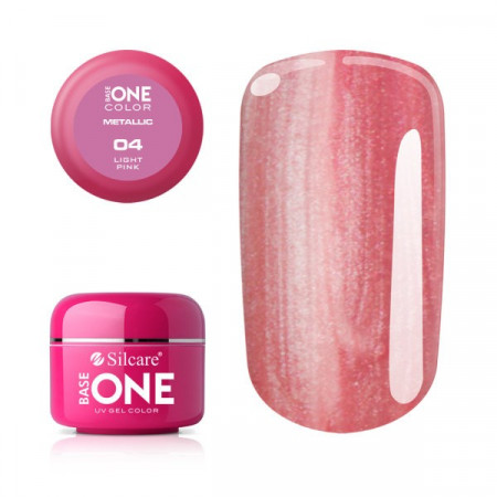 Gel UV Color Base One 5g Metalic Light Pink 04