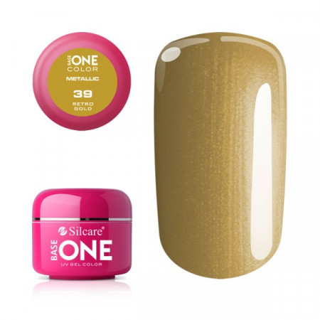 Gel UV Color Base One 5g Metalic Retro Gold 39