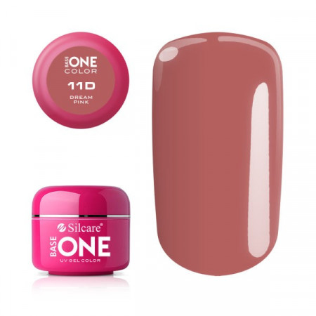 Gel uv Color Base One Silcare Clasic Dream Pink 11D