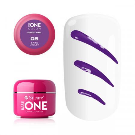 Gel UV Color Base One Silcare Paint Dark Violet 05