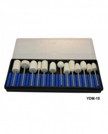 Set 12 capete de freza White granulatie 240