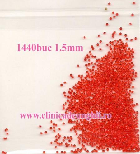 Set 1440 buc Cristale rosii 1.5mm