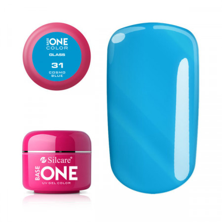 Gel uv Color Base One Silcare Glass Cosmo Blue 31