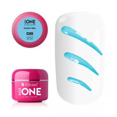 Gel UV Color Base One Silcare Paint Light Blue 06