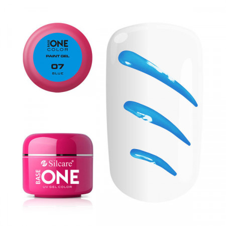 Gel UV Color Base One Silcare Paint Blue 07