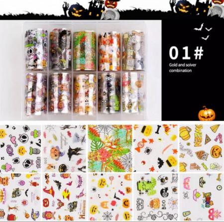 Set 10 folii transfer model Halloween 01