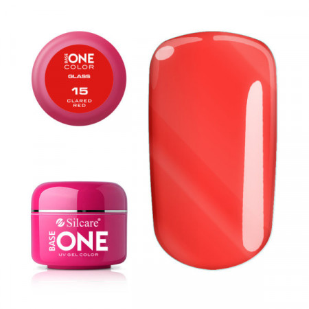 Gel uv Color Base One Silcare Glass Clared Red 15