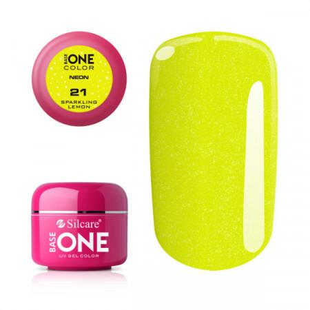 Gel UV Color Base One Silcare Neon Sparkling Lemon 21