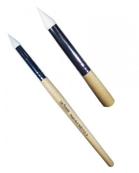 Pensula Nail Art cu Varf de Silicon nr 3