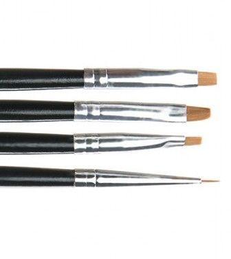Pensule pentru unghii set 4 NBS04A