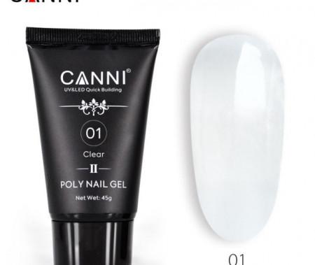 Poly Nail Gel CANNI Formula noua Clear 01