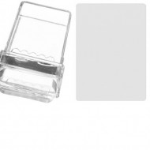 Set Stampila Burete Silicon+Racleta-(transparenta+capac)