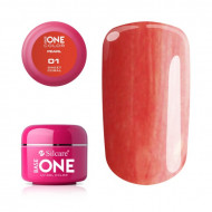 Gel UV Color Base One 5g Pearl 01 Sweet Coral