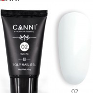 Poly Nail Gel  CANNI Formula noua White 02