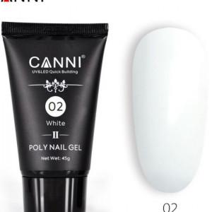 Poly Nail Gel CANNI Formula noua White 02