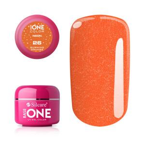Gel UV Color Base One Silcare Neon Burning Orange 26