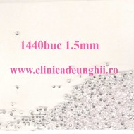 Set 1440 buc Cristale Silver 1.5mm