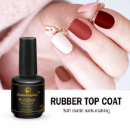 Top Coat FSM RUBBER SOFT MATT 15ml (cu stanta fsm pe fundul sticlutei)