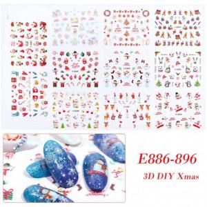 Decoratiuni unghii modele de craciun Korea Style 24*16cm Model B
