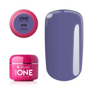 Gel uv Color Base One Silcare Clasic Crocus Violet 59