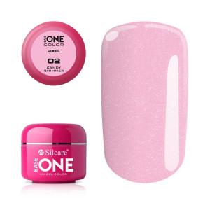 Gel uv Color Base One Silcare Pixel Candy Shimmer 02