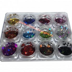 Set 12 butoiase paiete Fluturi multicolori G1208