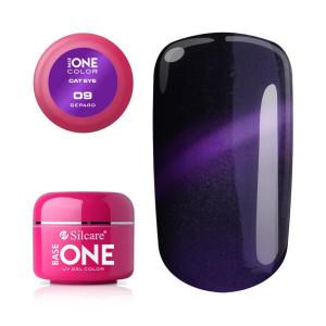 Gel UV Color Base One Silcare Cat Eye Magnetic Gepart 09