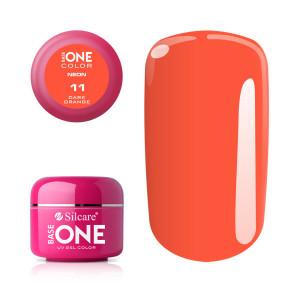 Gel UV Color Base One Silcare Neon Dark Orange 11