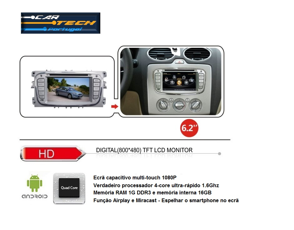 auto r dio dvd gps android 4 4 4 cartech ford oval. Black Bedroom Furniture Sets. Home Design Ideas