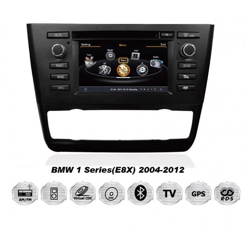 auto r dio android 4 4 4 dvd gps cartech bmw serie 1 e8x. Black Bedroom Furniture Sets. Home Design Ideas
