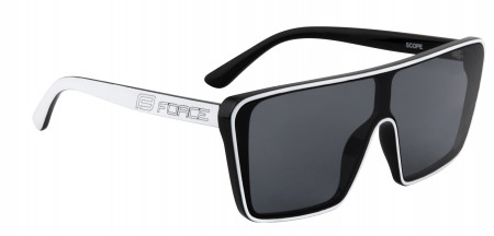 Ochelari Force Scope cu lentile negre, Albi
