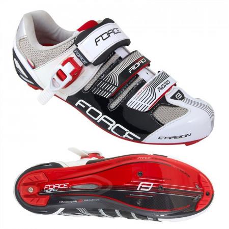 Pantofi Force Road Carbon negru/alb 42