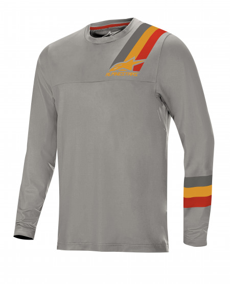 Bluza Alpinestars Alps LS Jersey 4.0 Melange Grey/Red Ochre XL