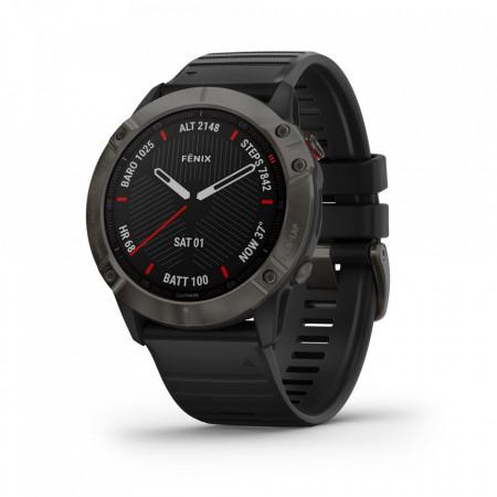 Ceas Garmin fenix 6X sapphire carbon gray DLC, black band