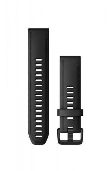 Curea Garmin Quickfit 20 silicon black fenix 5S, 6S