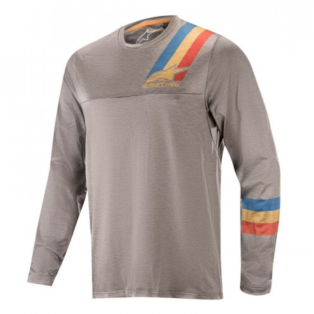 Tricou Alpinestars Alps 4.0 LS Jersey Melange Grey/Blue Red M