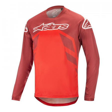Tricou Alpinestars Racer V2 LS Burgundy/Red/White L