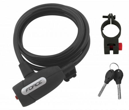 Lacat Force F Lux 120cm/8mm cu suport negru