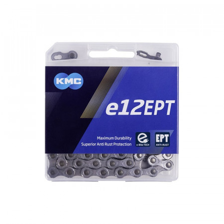 Lant KMC E12 EPT 12 Viteze 130 zale Ebike, Argintiu